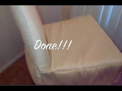 DIY Chair Cover Simple,Quick and Easy