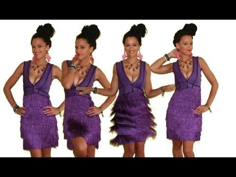 DIY Holiday Fringe Dress | DIY Clothes