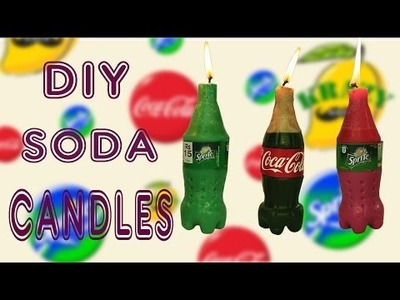 Make Mini Coca Cola & Sprite Candles DIY Soda Candles
