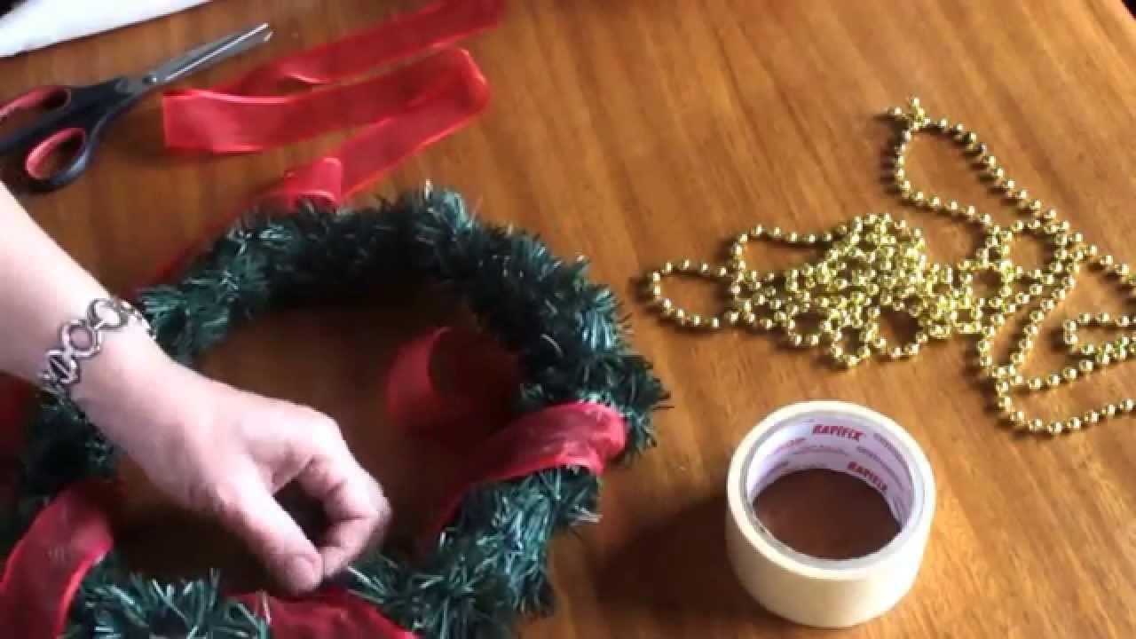 Cómo armar una corona de adviento -  DIY - How to make an Advent wreath