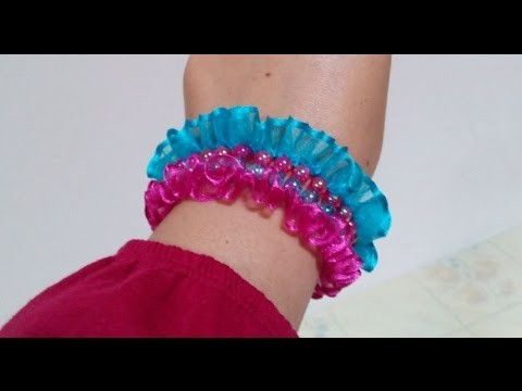 Creative Ideas : How to DIY Amazing Satin Ribbon Bracelet + Tutorial .