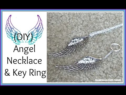 DIY Angel Wing Necklace & Key Charm