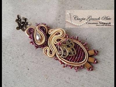 DIY - Cabochon di perline a rilievo  Bead Embroidery