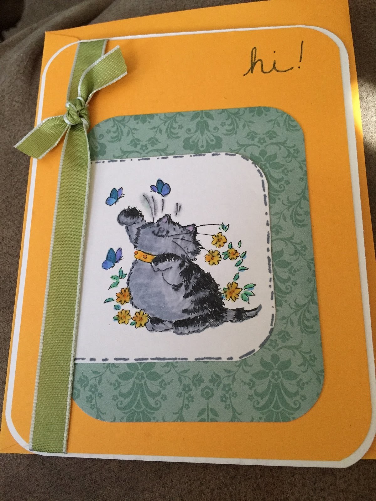 DIY Card with Cat Stamp