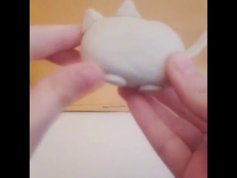 DIY clay pusheen the cat ♡