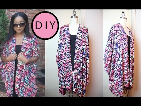 DIY : Draped Chiffon Cardigan