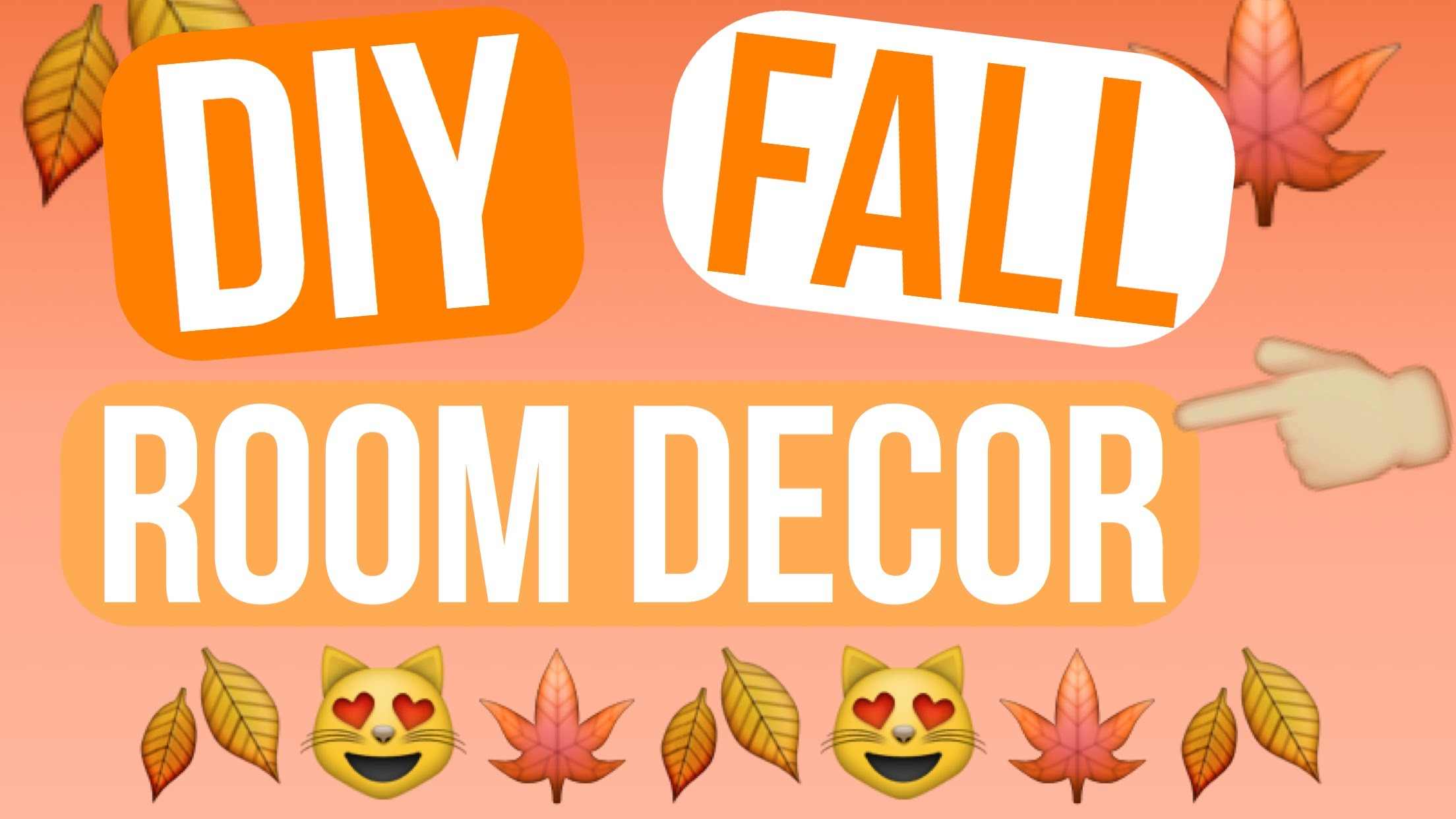 DIY Fall Room Decor 2015