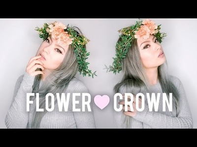 DIY Fresh Flower Crown | Spring Coachella. Festival Trend 2016