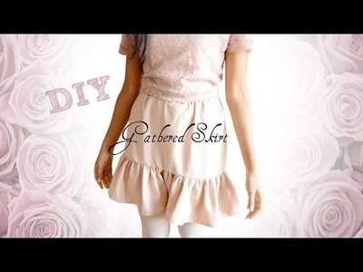 DIY Gathered Skirt on Yoke with French Seams