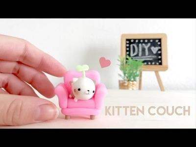 DIY Kitten Couch Polymer Clay tutorial
