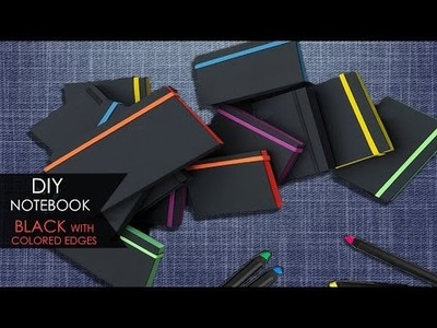 DIY Notebook ❑ Nero con bordi colorati | Black with colored edges