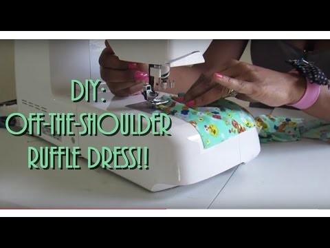 DIY Off the Shoulder Dress !