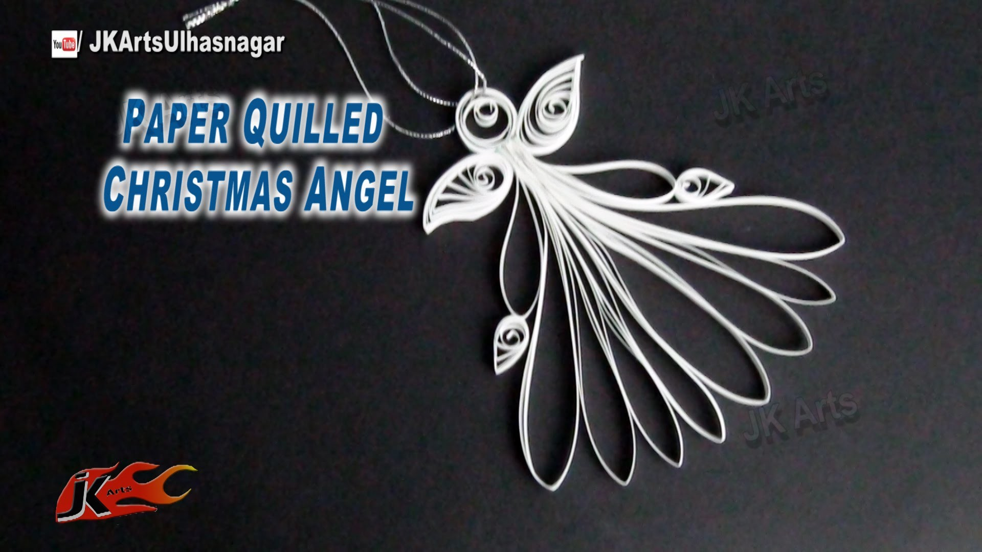 DIY Paper Quilled Christmas Angel | How to make | JK Arts 810