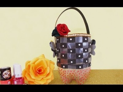 DIY Projects : How to Make Utility Basket from Plastic Bottle | Recycle Bottle Craft