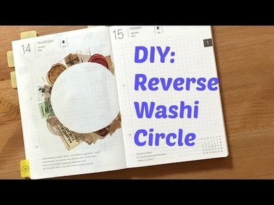DIY Reverse Washi Circle | Travelling Hobonichi Journal With Me Ep2