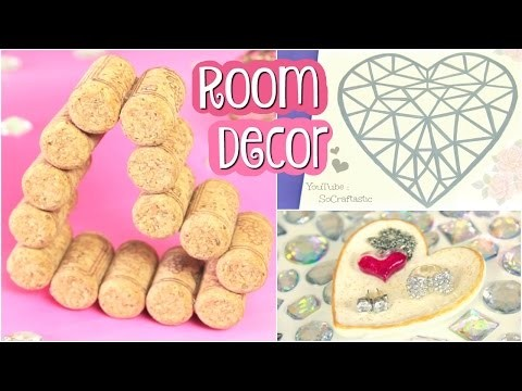 DIY Room Decor. Heart Decorations for Valentine's Day. Sharpie Art, Clay Dish, & More!