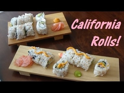 DIY Sushi! California Rolls Two Ways: Traditional & Spicy! Step-by-Step