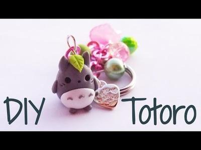 DIY | Totoro keychain polymer clay Tutorial