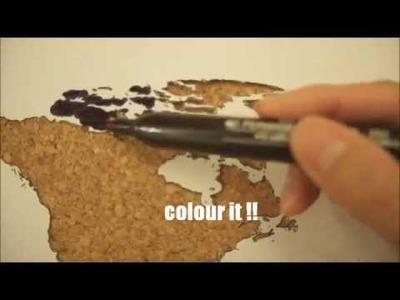 DIY Your Cork-board Map
