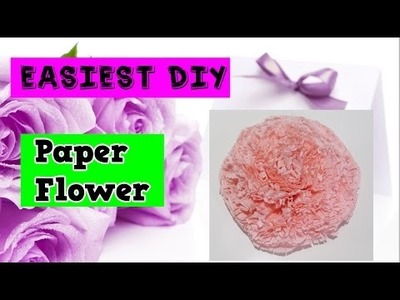 Easiest Way to Make Paper Flower.DIY How to Tutorial by Creative World