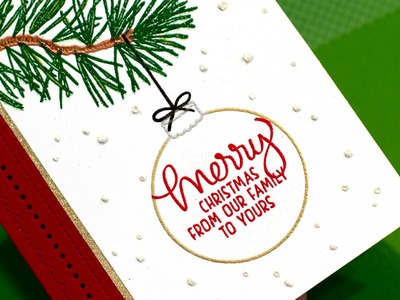Heat Embossed Holiday Card (with MISTI)