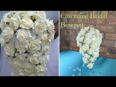 How to create your own cascading bridal bouquet : DIY wedding flowers