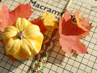 Intro to Macramé Autumn. Fall Bracelet. Macrame School