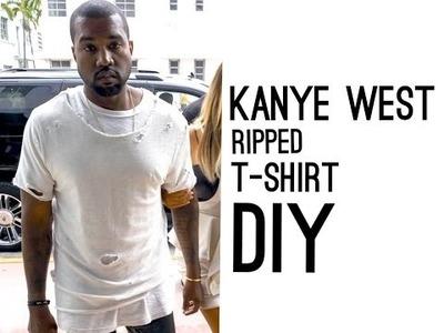 Kanye West Ripped T-Shirt (DIY)