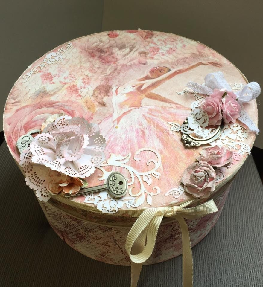 Romantic Ballerina & Flower box - Mixed Media, Decoupage & Scrapbooking