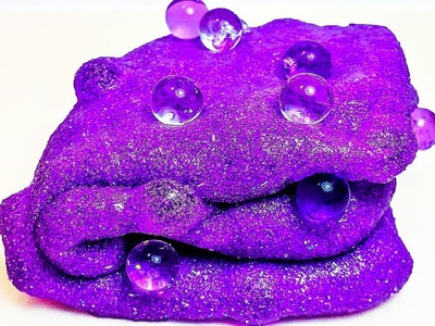 DIY: How to Make GLITTERY KINETIC SAND SLIME with ORBEEZ!