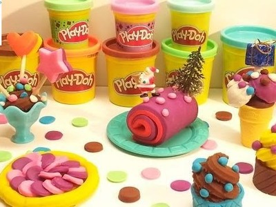 Đồ Chơi Đất Nặn Play Doh How To Make Delicious Dessert Cupcake Lollipops