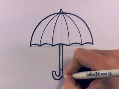 How to Draw a Cartoon Umbrella