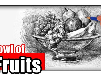 How to Draw a Fruit Bowl with Pencil