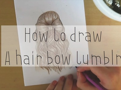 How to draw a hair bow tumblr| Drawicorn