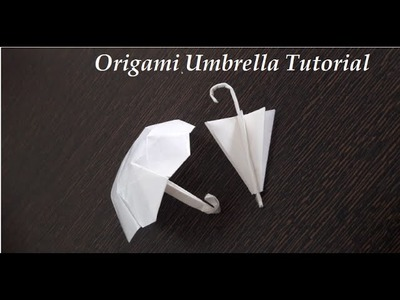 How to Make a Paper Umbrella - Origami