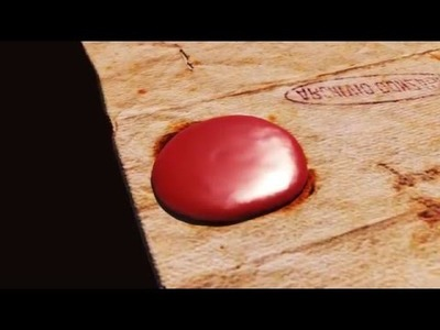 How to make sealing wax stamp animation in Blender