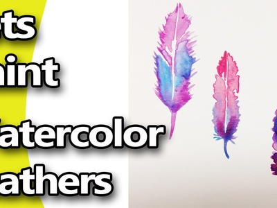 How to Paint Easy Watercolor Feathers