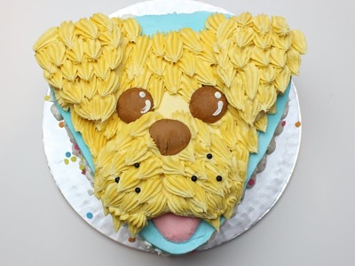 How to to make a dog cake - Buttercream Cockerpoo Cake - Easy Scruffy Dog cake