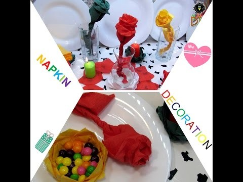 3 DIY Napkin Decoration For Holiday - Easy Ways How To Fold Napkin Beautiful