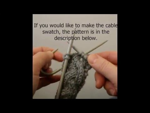C2B or Cable 2 Back - Knitting Video