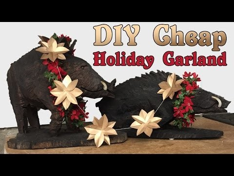 Cheap Holiday DIY Garland Decoration | Vlogmas Day 9