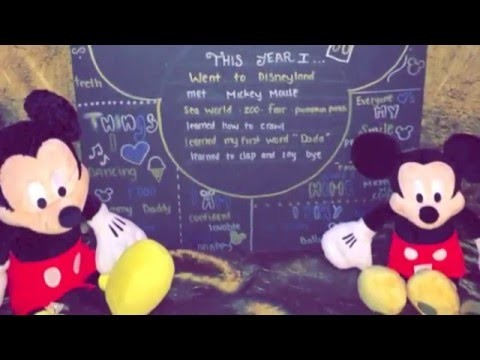 DIY 1ST BIRTHDAY MICKEY MOUSE CHALKBOARD