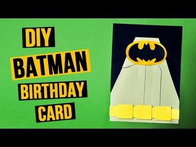 DIY Batman Birthday Card