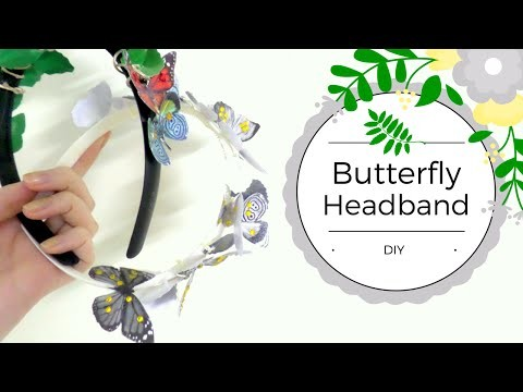 DIY Boho Butterfly Headband. Wedding Headpiece.Easy and Cheap. by Fluffy Hedgehog