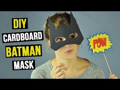 DIY Cardboard Batman Mask