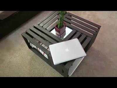 DIY Coffee Table | Wooden Crates