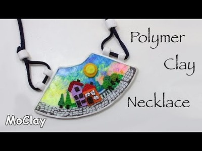 DIY Craft CDs recycling - Easy necklace - Polymer clay tutorial