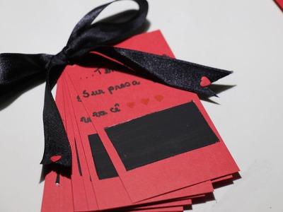 DIY: Dia Dos Namorados - raspadinha do amor.