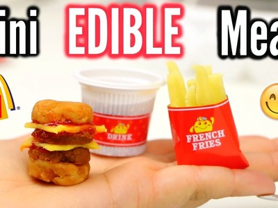 DIY Edible Mini Cheeseburger Meal! Popin Cookin! Taste test!