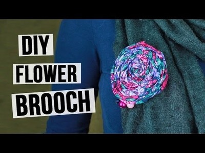 DIY flower brooch
